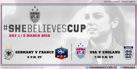 Day 1 at the SheBelieves Cup 2016