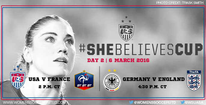 Day 2 at the SheBelieves Cup 2016