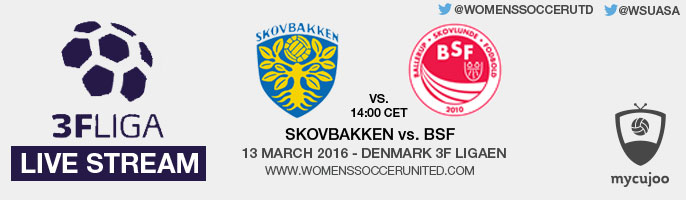 Live stream: Skovbakken vs. BSF | Denmark 3F Ligaen – 13 March 2016