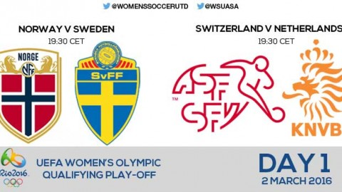 Day 1 of UEFA Women's Olympic Qualifying Play-offs