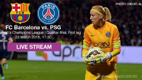 Live stream: FC Barcelona vs. PSG | UEFA Women's Champions League Quarter-final (1st leg)