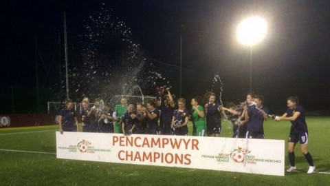 Cardiff Metropolitan Ladies win Welsh Premier Women's title 2016