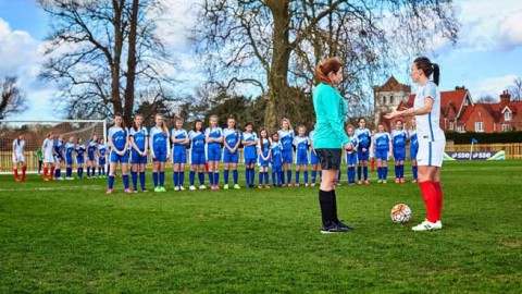 England Lionesses make history against 100 school girls