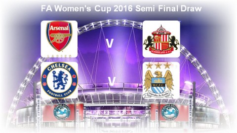 FA Women's Cup 2016 Semi Final Draw