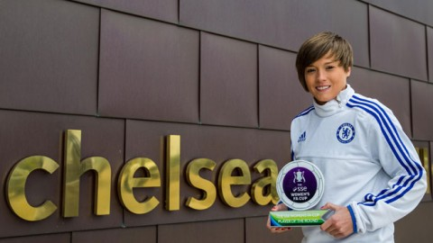 Chelsea's Fran Kirby Wins The SSE Women's FA Cup Player Of The Round Award