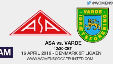 Live stream: ASA vs. Varde | Denmark's 3F Ligaen (playoffs) – 16 April 2016