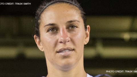 Houston Dash midfielder Carli Lloyd suffered a Grade 1 MCL sprain in Saturday night's match against Orlando Pride