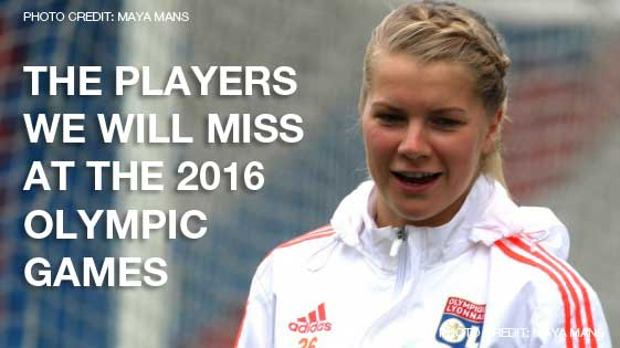 Players who will be missed at the 2016 Olympic Games in Rio