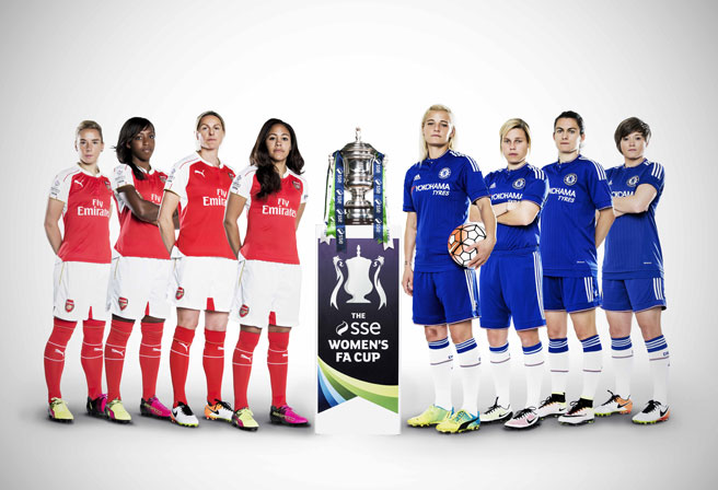 Arsenal v Chelsea | The SSE Women's FA Cup Final at Wembley on 14 May 2016