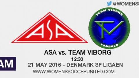 Live stream: ASA vs. Team Viborg | Denmark 3F Ligaen – 21 May 2016