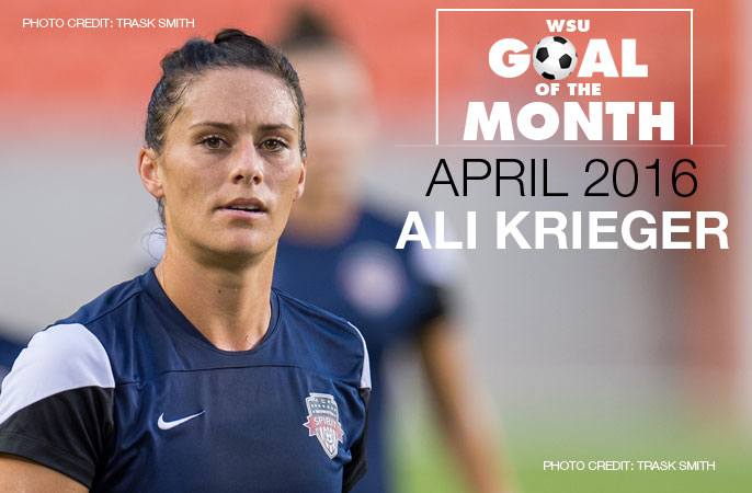 Ali Krieger wins WSU Goal of the Month - April 2016