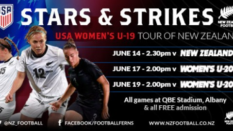 New Zealand's Football Ferns to play USA Women's U-19 Team