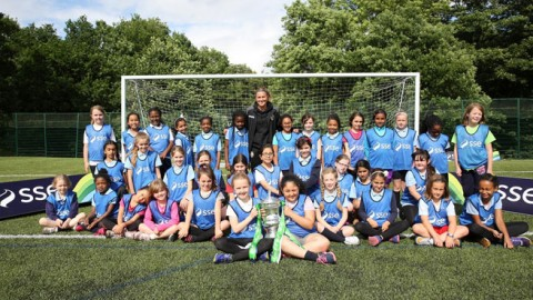 England star Amy Turner meets the next generation of Lionesses