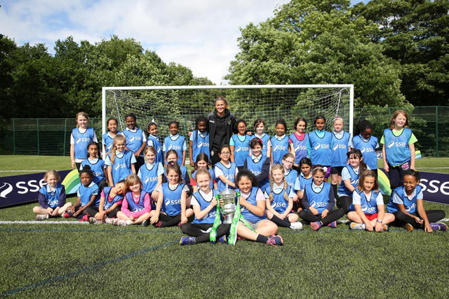 World's oldest club breaks new ground with girls-only football sessions.