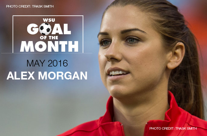 Alex Morgan wins WSU Goal of the Month - May 2016