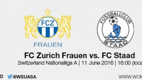 Live stream: FC Zürich Frauen v FC Staad | Swiss Nationalliga A – 11 June 2016