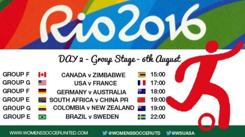 Day 2 at the Rio 2016 Olympic Games Women's Football tournament