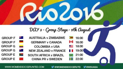Day 3 at the Rio 2016 Olympic Games Women's Football tournament