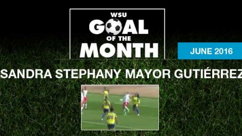 Sandra Stephany Mayor Gutiérrez wins WSU Goal of the Month – June 2016