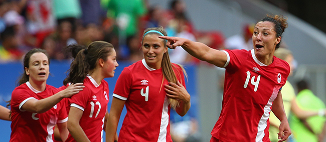 Perfect Canada wins Olympic Group F with 2:1 win over Germany