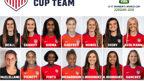 B.J. Snow Names USA Squad for 2016 U-17 FIFA Women's World Cup in Jordan