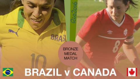 Bronze medal match: Brazil v Canada | Rio 2016 Olympic Games (19 August)