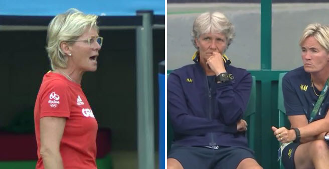 Silvia Neid and Pia Sundhage