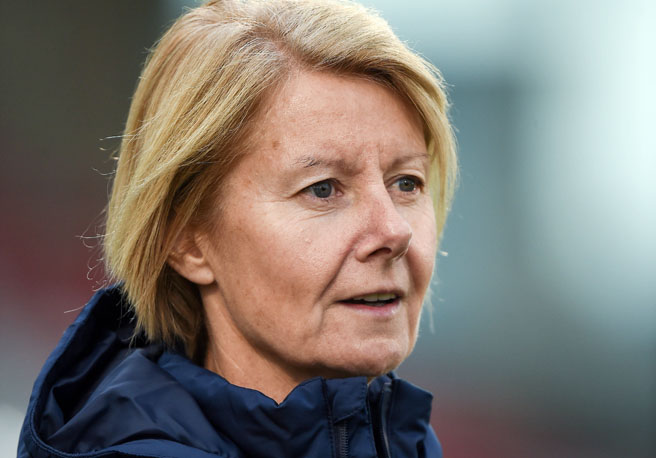 20 September 2016; Republic of Ireland manager Sue Ronan ahead of the UEFA Women's Championship Qualifier match between Republic of Ireland and Portugal at Tallaght Stadium in Tallaght, Co. Dublin. Photo by Cody Glenn/Sportsfile