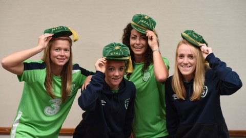 Republic of Ireland WNT receive international caps at special ceremony