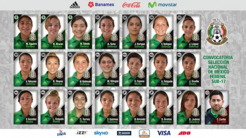 Mexico squad announced to compete at FIFA U-17 Women's World Cup 2016