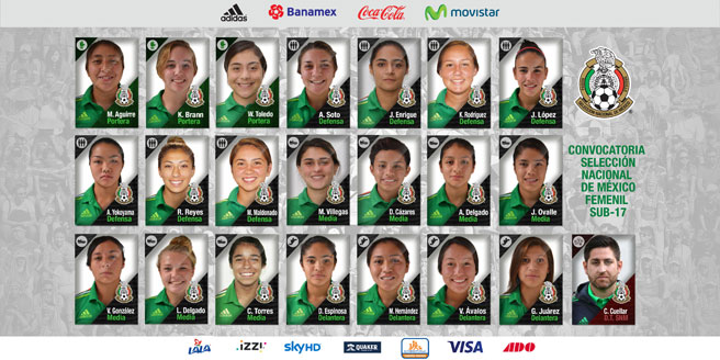 Mexico Women's U-17 squad