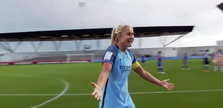 Steph Houghton celebrates title win