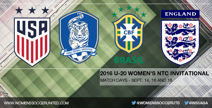 USA, Brazil, England and Korea Republic to compete in 2016 U-20 Women's NTC Invitational