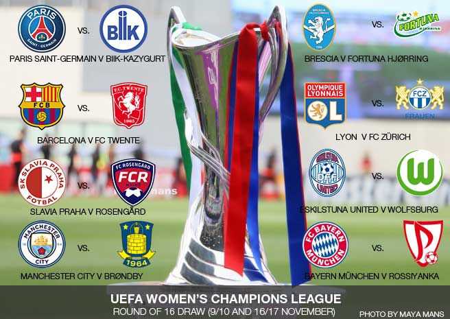 UEFA Women's Champions League 2016/17 Round of 16 fixtures