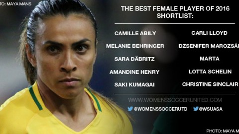 Nominees for The Best female player of 2016 are announced