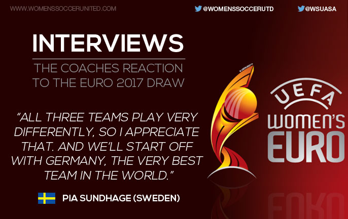 Interviews: Coaches reactions to UEFA Women's EURO 2017 final tournament draw