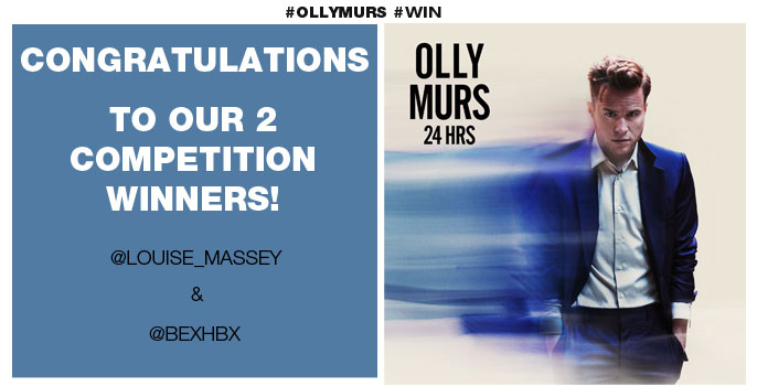 Congratulations to Louise Massey and Bex who correctly answered, what football team does Olly Murs support? (Man Utd)