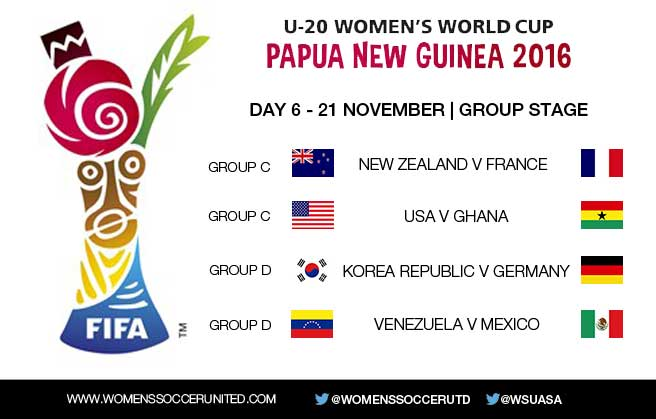 FIFA U-20 Women's World Cup 2016 matchday 6