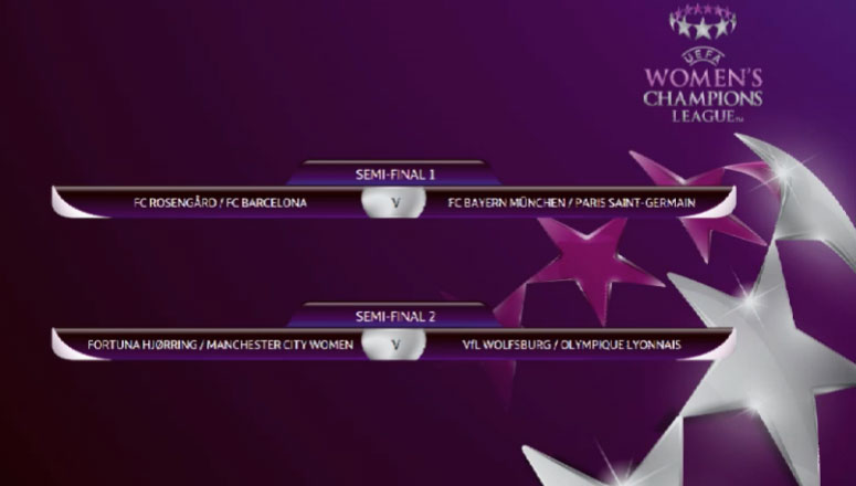 Result of the UWCL 2016/17 semi-final draw