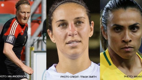 Melanie Behringer, Carli Lloyd and Marta are the three nominees for The Best FIFA Women's Player Award 2016