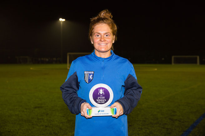 SSE Women's FA Cup player of the first round - Gillingham Ladies' Fliss Gibbons