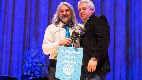 Keith Boanas receives highest honour at Estonian FA Gala event