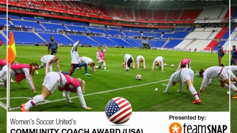 Women's Soccer United and TeamSnap Community Coach Award heads to USA.