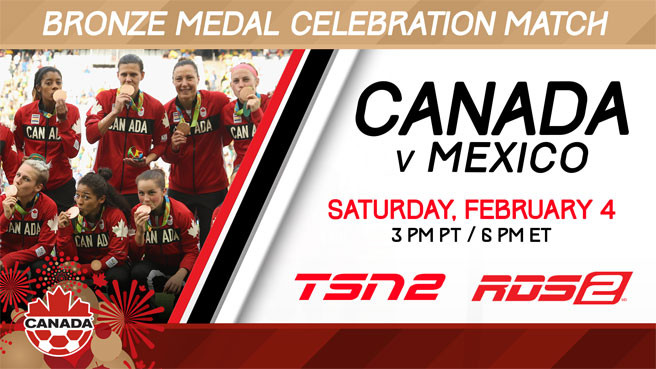 Canada Soccer Bronze Medal Celebration Match to be Broadcast LIVE on TSN2 and RDS2
