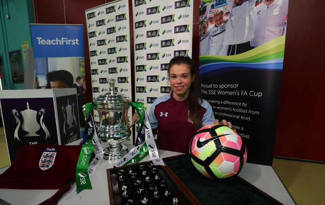 Aston Villa Ladies star Beth Merrick has her eyes on the SSE Women's FA Cup final