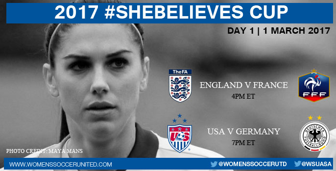 Day One at the 2017 SheBelieves Cup
