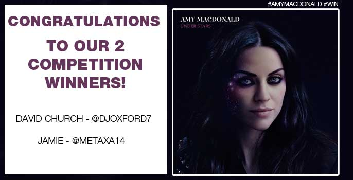 Congratulations to our 2 winners, who correctly answered How many records has Amy sold worldwide? (A. Over 5 Million)