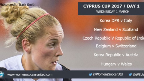 Day 1 at the 2017 Cyprus Cup