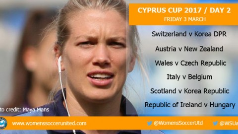 Day 2 at the 2017 Cyprus Cup