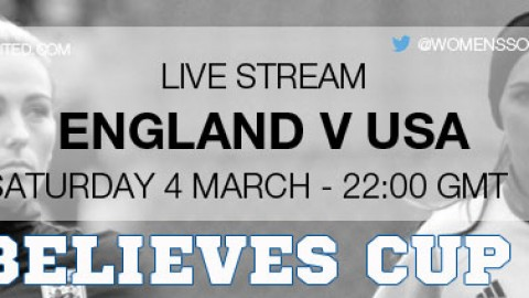 Live Stream: England v USA | SheBelieves Cup 2017